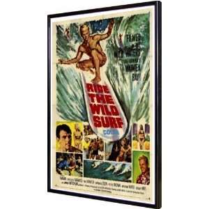 Ride The Wild Surf 11x17 Framed Poster: Home & Kitchen