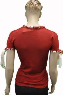 New Roberto Cavalli Womens Top Blouse Shirt Bordo Sz 40