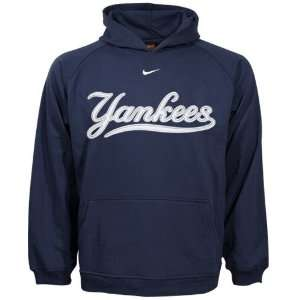 Nike New York Yankees Navy Blue Youth Tackle Twill Hoody Sweatshirt