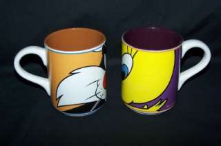 LOONEY TUNES TWEETY/SYLVESTER MUGS AND CANDY BOWL/DISH
