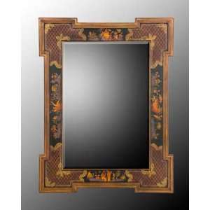 Rectangle Mirror with Black and Gold Wood Frame