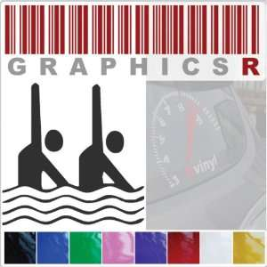 Sticker Decal Graphic   Synchronized Swimming Swimmer Sport Stick