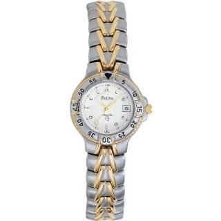 Bulova Marine Star Ladies 100 Meter Two Tone Watch 98M79