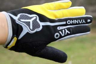 2012 Cycling Bike Bicycle FULL finger gloves Size L YELLOW
