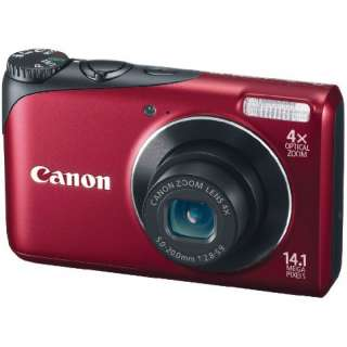 NEW Canon PowerShot A2200 14.1 MP Digital Camera   Red, Free Case, 4GB
