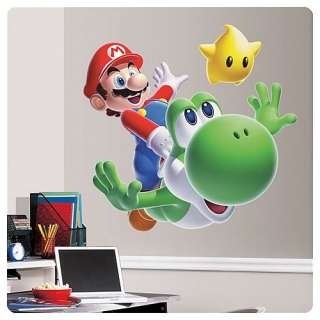 Super Mario Bros Giant Peel And Stick Wall Decal Mario & Yoshi *New