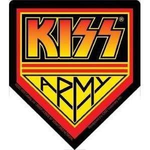 Kiss Army badge STICKER rock music