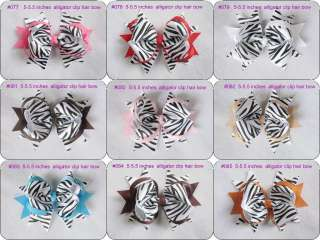 20 baby girl boutique hair bows (30 styles for U pick)