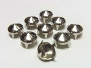 10mm Cone Studs Spots Nickel Punk Rock Spike 100pc