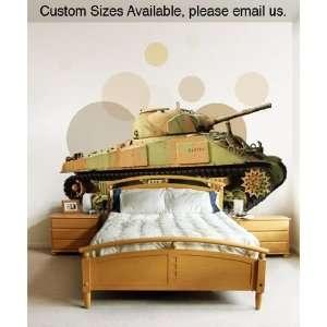 Vinyl Wall Decal Sticker Military Tank JH124B