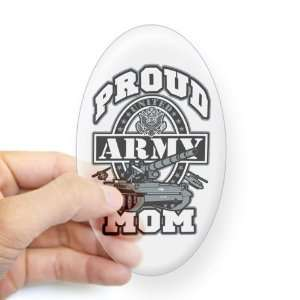 Sticker Clear (Oval) Proud Army Mom Tank