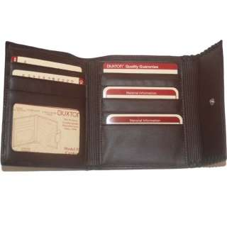 Buxton Genuine Leather Ladies Wallet Brown #BX24555Z 803698926122