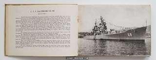 USS BALTIMORE CA 68 MEDITERRANEAN CRUISE BOOK 1952
