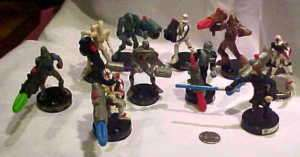 10 SLIGHTLY USED ATTACKTIC STAR WAR GAME FIGURES