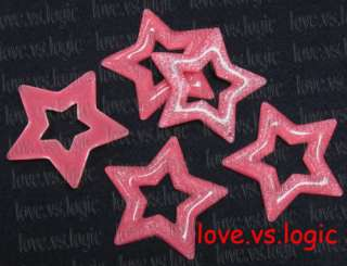 xxxhuge glitter star lucite pendant dark pink due to production