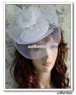Wedding Bridal Veil Millinery Hair Clips Hat Fascinator