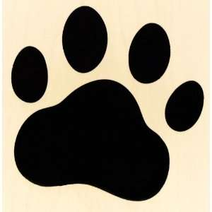 Jumbo Large Paw Print Rubber Stamp   Dog / Cat / Bear