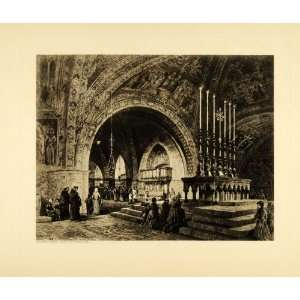1905 Photogravure St. Francis Assisi Church Italy
