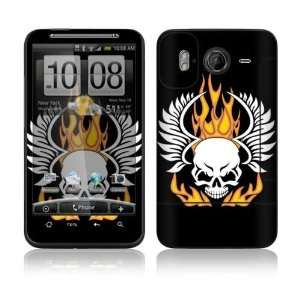 Flame Skull Decorative Skin Cover Decal Sticker for HTC