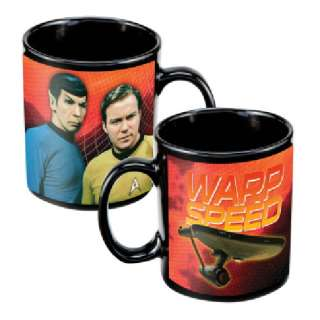 Classic Star Trek Kirk, Spock & Enterprise Ceramic Mug
