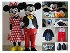 Mickey & Minnie couple 2pcs Mouse mascot cartoon costume Adult Size
