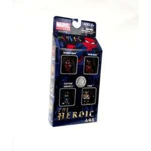 Marvel Minimates Exclusive Mini Figure 4Pack The Heroic Age SpiderMan