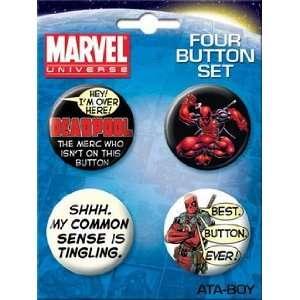 Marvel Comics Spiderman Deadpool Button Set 81960BT4 Toys