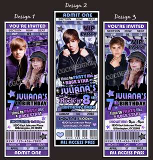 prior to purchase sorry personalized justin bieber birthday party