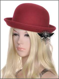 SH Red Black Ceremonial Fashion Lady Formal Hat Cap Enchanting Party