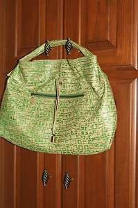 Michael Rome Croco Embossed Slouchy Leather Hobo |