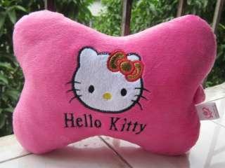 Sanrio hellokitty pink hello kitty 1pair pink neck pillow for car