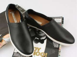 New Soft Leather Classic Casual Black No lace Shoes