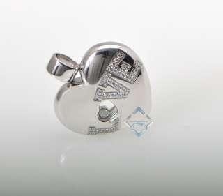 Chopard 18K White Gold Diamond Heart Love Pendant