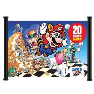 Super Mario Bros. 3 Game Fabric Wall Scroll Poster (23 x