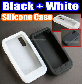 Black+White Silicone Gel Case Skin Back Cover for Samsung S5230 Star