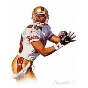 Jerry Rice San Francisco 49ers Giclee on Canvas: Sports