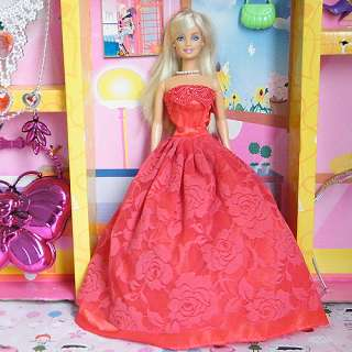 New Fashion Handmade Princess Clothes Dress Gown Skirt for Barbie Doll