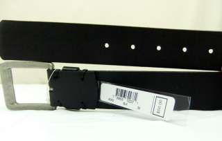 Mens MICHAEL KORS Black Leather Cold Steel Belt 38