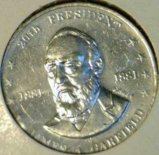 Garfield Mr. President Commemorative Shell Game Medal Token   Coin