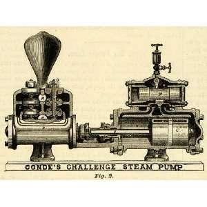1873 Print Condes Challenge Steam Pump Antique Machine