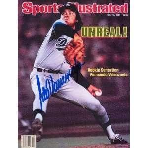 Fernando Valenzuela Autographed Sports Illustrated