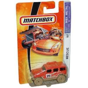 Cast Car # 62   Muddy Orange Sport Utility Vehicle Jeep Rescue SUV