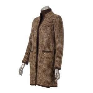 Sutton Studio Womens Wool Long Sweater Coat Topper