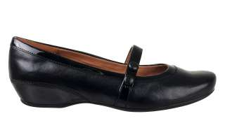 Clarks Womens Mary Jane Shoes Concert Hall Black Leather 31344