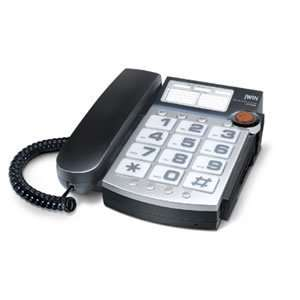 jWIN JTP390BLK Big Button Corded Speakerphone with 13