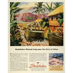 1945 Ad Studebaker Military Tank Weasel Trucks Servicemen