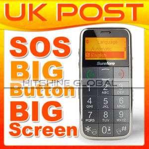 Senior Basic Big Button Black Mobile Phone NEW BIG FONT