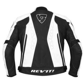 REVIT APOLLO LEATHER MOTORCYCLE RACE JACKET BLACK XL 44