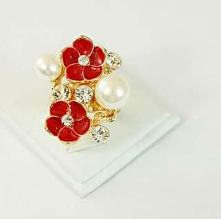 plated gemstone zirconia cz adjustable ring costume fashion jewelry