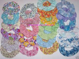 Floral Flowers Roses Fabric Hair Scrunchies Choose Size